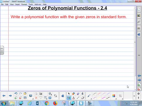 24 Notes Zeros Of A Polynomial Function Whitehouse Independent