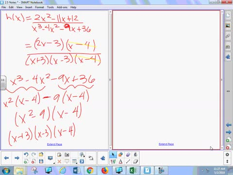 2.5 Notes 2 - Rational Functions