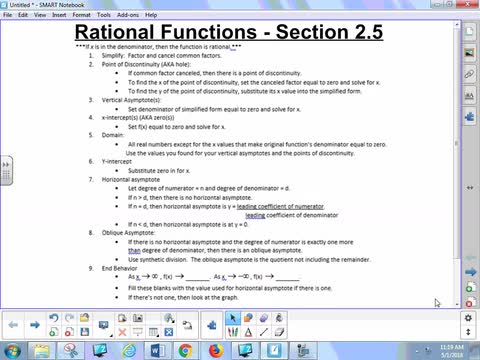 2.5 Notes 1 - Rational Functions