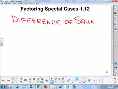 1.12 Lesson - Factoring Special Cases
