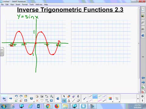 2.3A Lesson - Inverse Trigonometric Functions