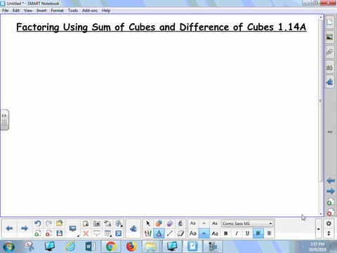 1.14A Lesson - Factoring Sum and Difference of Cubes
