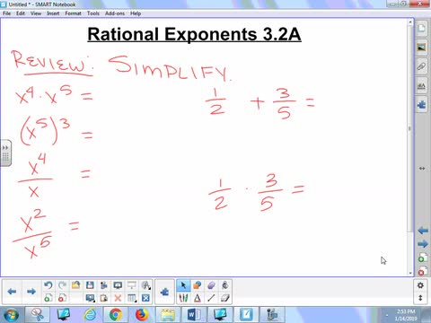 3.2 Lesson - Rational Exponents