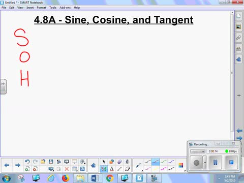 4.8A Lesson - Sine, Cosine and Tangent