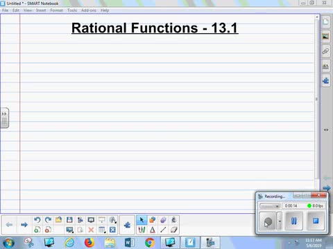 13.1A Lesson - Rational Functions