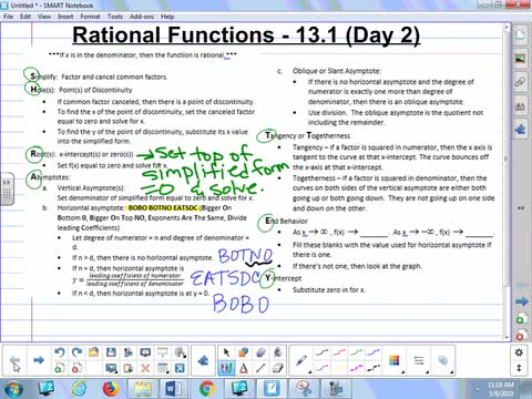 13.1C Lesson - Rational Functions