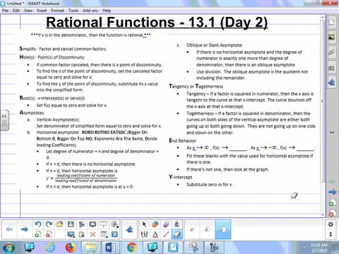 13.1B Lesson - Rational Functions