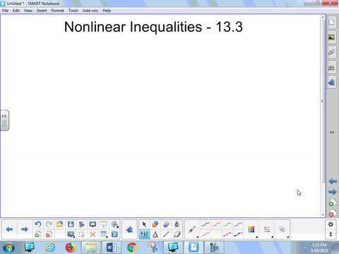 13.3 Lesson - Nonlinear Inequalities