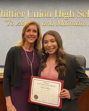 La Serna High Senior Earns Award of Merit