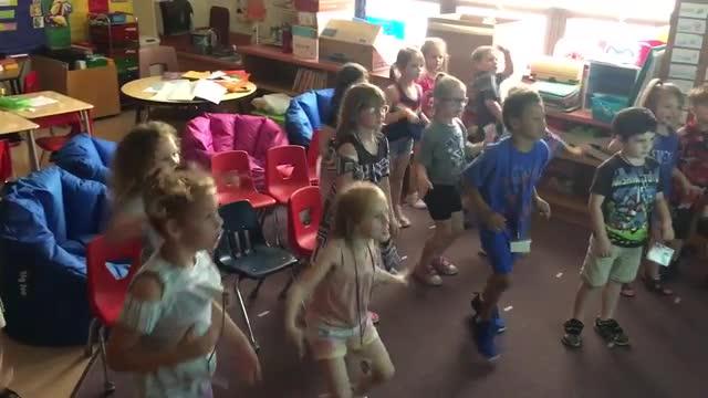 Kindergarten Celebrating Earnging Their Detective Badges