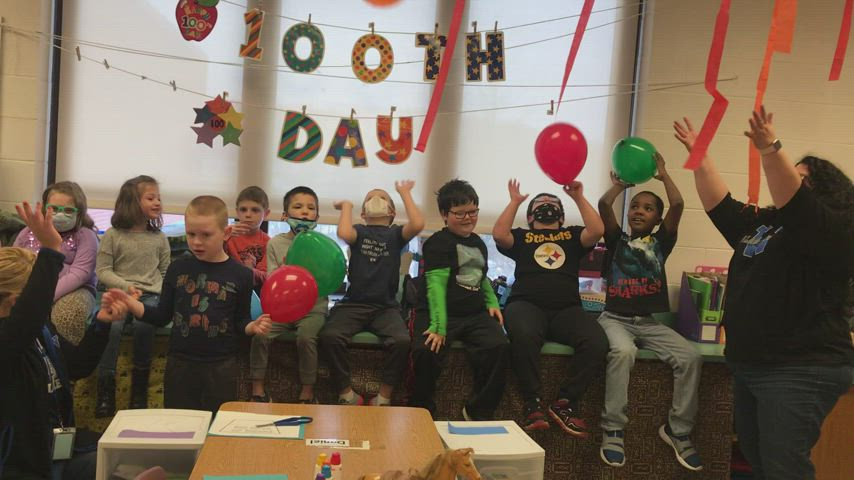 Happy 100th Day from Mrs. Holly Smith's Class