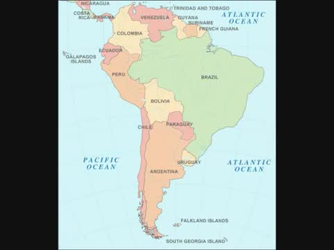 Learn all the capitals of South America and the countries with a beat