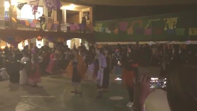 look at an example of a festival on dia de los muertos