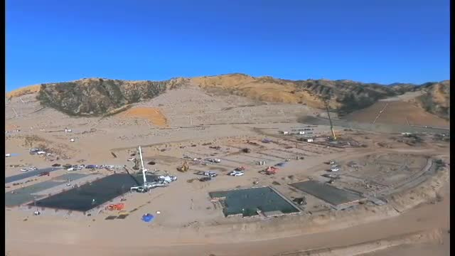 Drone Footage of Castaic High School Building Progress, June 2017