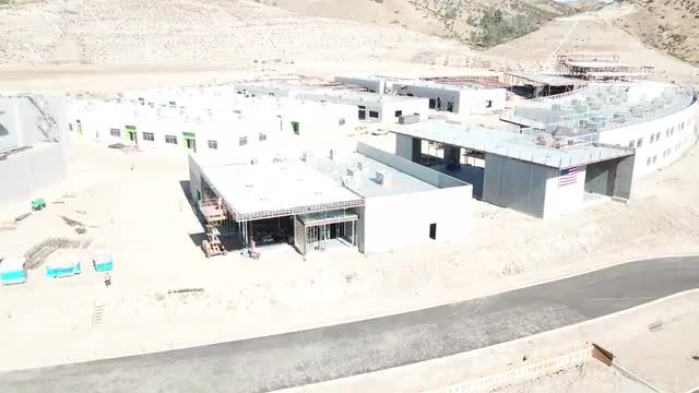Drone Footage of Castaic High School Building Progress, June 2018