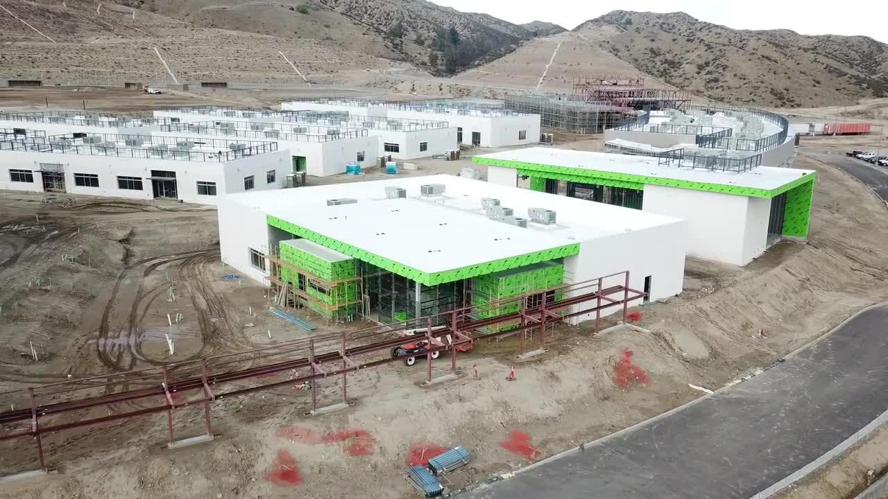 Drone Footage of Castaic High School Building Progress