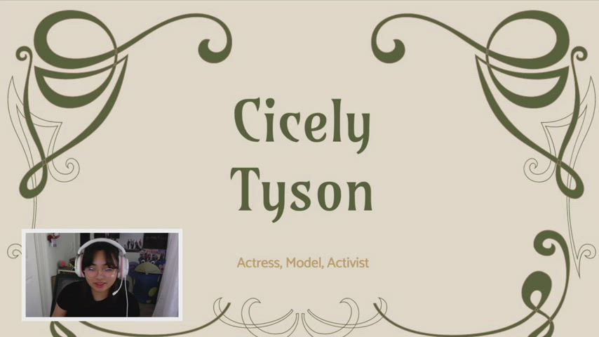 Placerita JHS Black History Month 2021 video about Cicely Tyson by the Collaborative Team.
