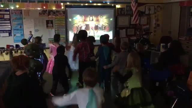Class Halloween party dance