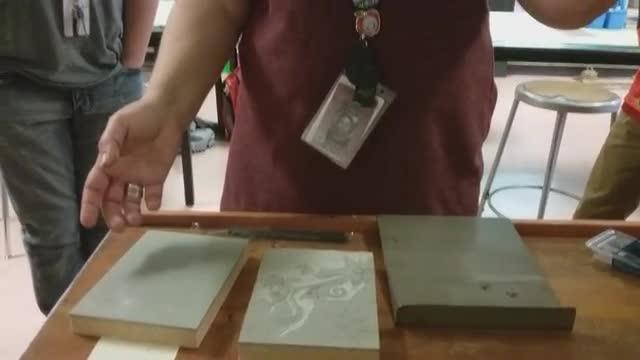 8th grade Visual Arts: Block Printing-Intro Demo