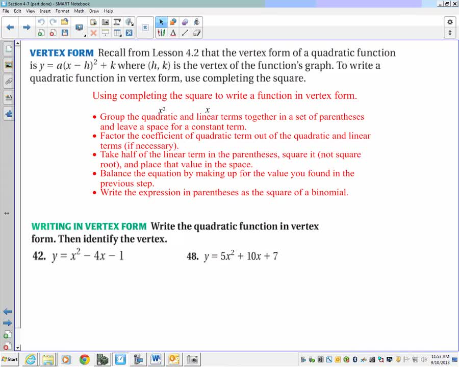 Algebra 2 Section 47 Part 2 17 Minutes Yankton High School