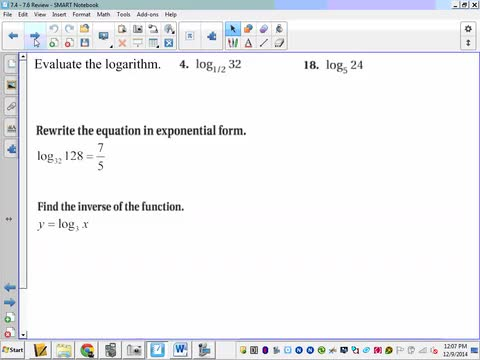 Algebra 2: 7 4 - 7 6 Review (22 minutes) | Yankton High School