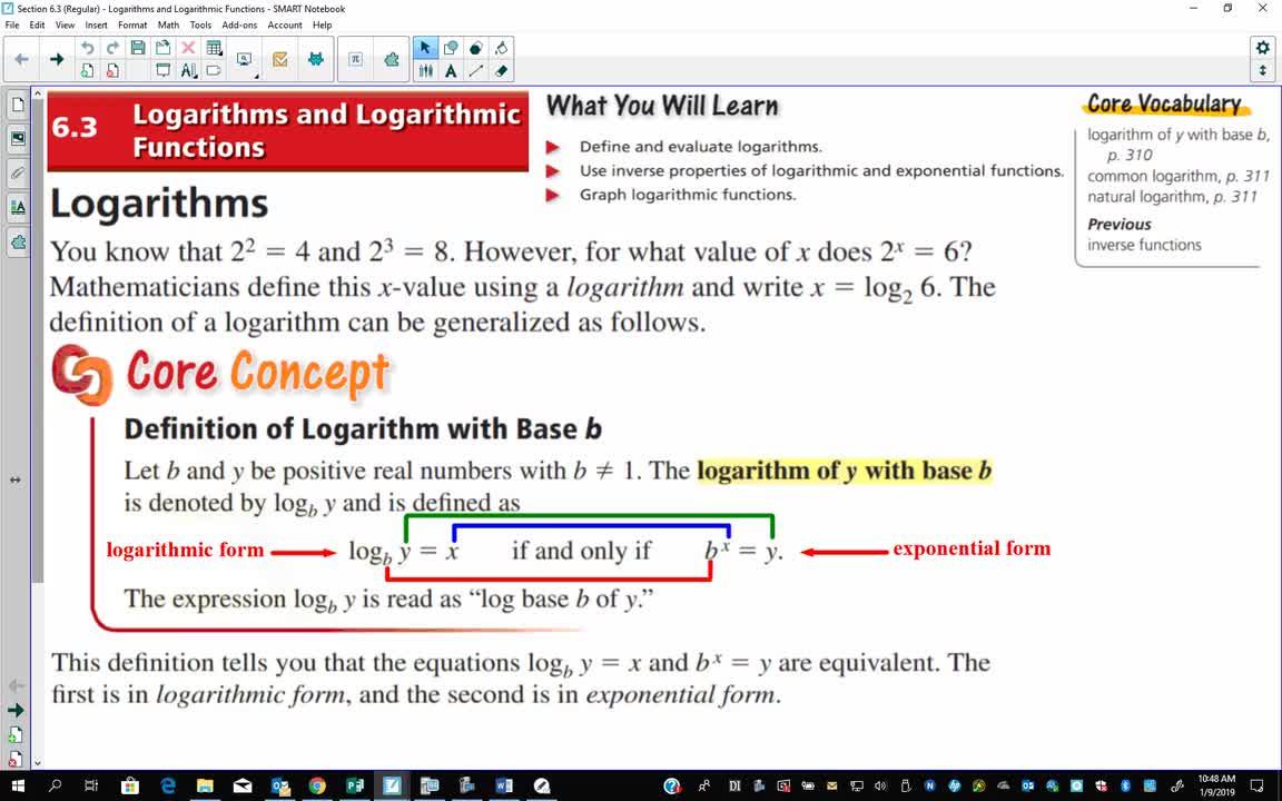 Regular Algebra 2: Section 6 3 - Part 1 (26 minutes