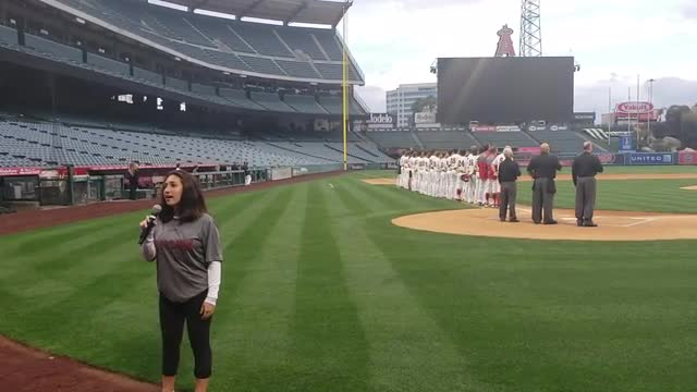 Nadine Kashou National Anthem, Angel Stadium, 3-19-2019