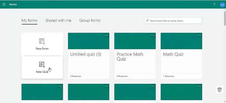 Create a Math quiz using Forms